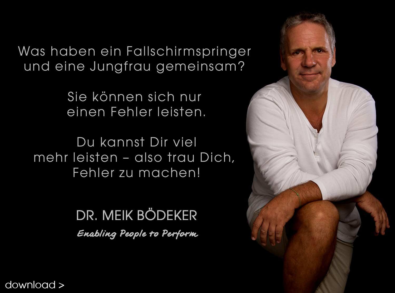 Weisheiten Johann Fallschirmspringer
